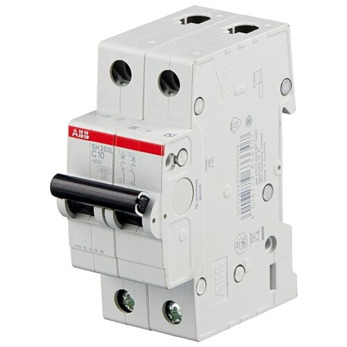 Автоматический выключатель ABB SH202L 2P (С) 4,5kA 10 А автоматический модульный выключатель abb 2п c sh202l 4 5ка 16а 2cds242001r0164