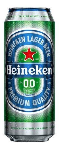 Пивной напиток Heineken 0.0 безалкогольный 0.45 л