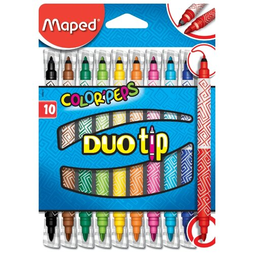 Maped Фломастеры Color'Peps Duo Tip (849010), 10 шт.