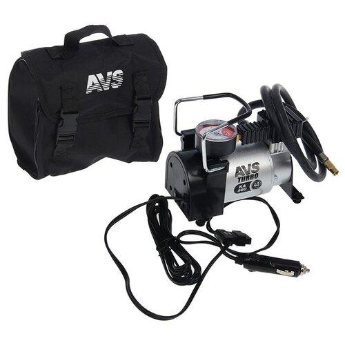 Автомобильный компрессор AVS KA580 серебристый
