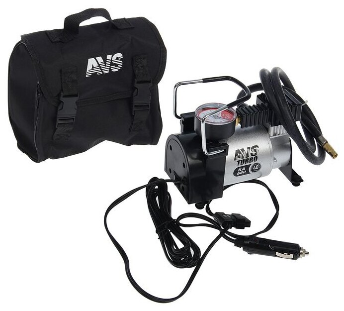 Автомобильный компрессор AVS Turbo AVS KA580 12В 14А 150Вт 10атм 40л/мин