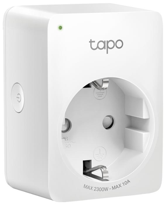 Розетка TP-LINK Tapo P100,10А, с заземлением, белый