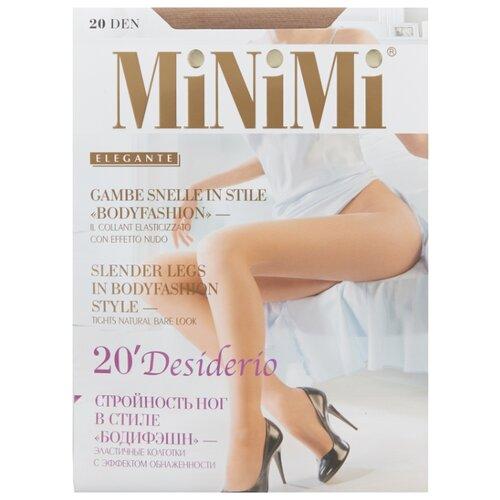 Колготки MiNiMi Desiderio (Nudo) 20 den, размер 4-L, daino (бежевый) колготки minimi body form 40 den размер 4 l daino бежевый
