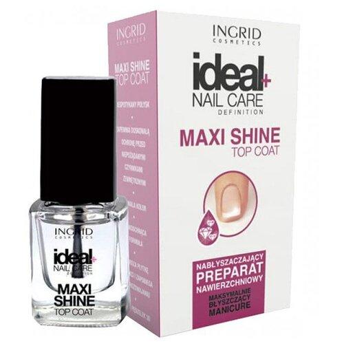 Ingrid Cosmetics верхнее покрытие Maxi Shine Top Coat 7 мл прозрачный opi верхнее покрытие infinite shine gloss top coat 15 мл прозрачный