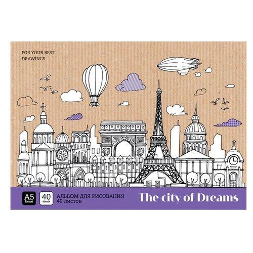 Купить Набор альбомов для рисования ArtSpace Путешествия. City of dreams 21 х 14.8 см (A5), 100 г/м², 40 л. (4шт.), Альбомы для рисования