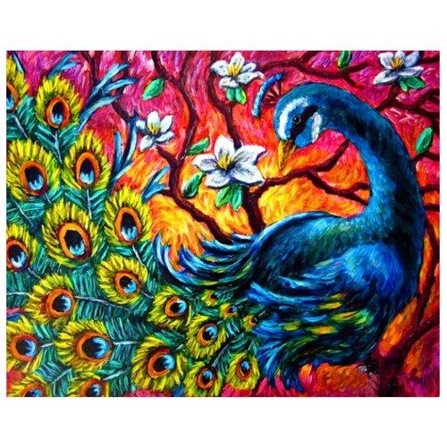 Купить ВанГогВоМне Картина по номерам Радужный павлин , 40х50 см (ZX 21755), Картины по номерам и контурам