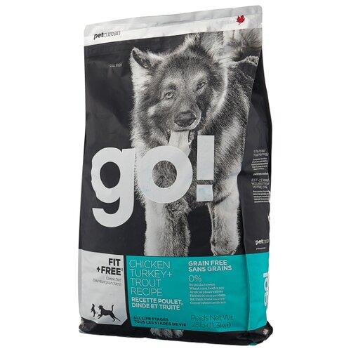Корм для собак GO! (11.35 кг) Fit + Free Grain Free Dog Recipe (Turkey, chicken, trout, duck)Корма для собак<br>