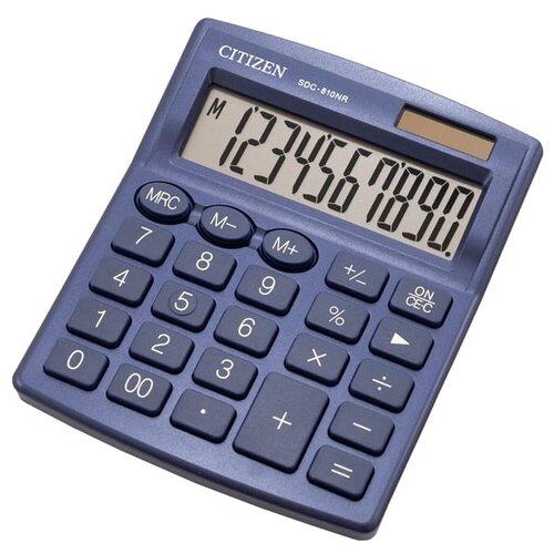 Калькулятор бухгалтерский CITIZEN SDC-810NR темно-синий