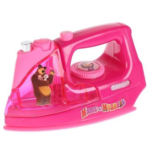 Купить Утюг Играем вместе Маша и медведь B1452810-R розовый, Детские кухни и бытовая техника