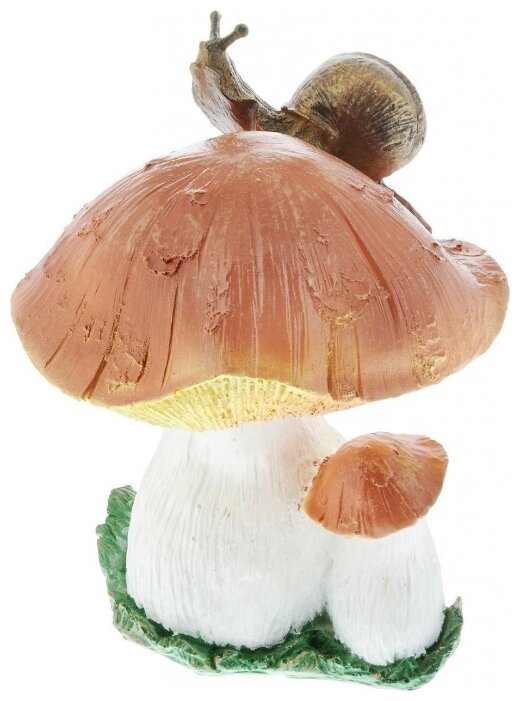Садовая фигура GARDEN SHOW Гриб с улиткой 30 см