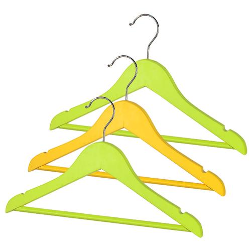 Вешалка Valiant Набор детские KH-W35-G зеленый/желтый вешалка valiant набор 16601s белый