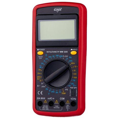 Мультиметр цифровой ELITECH ММ 300 автомобильный мультиметр цифровой robiton dmm 200