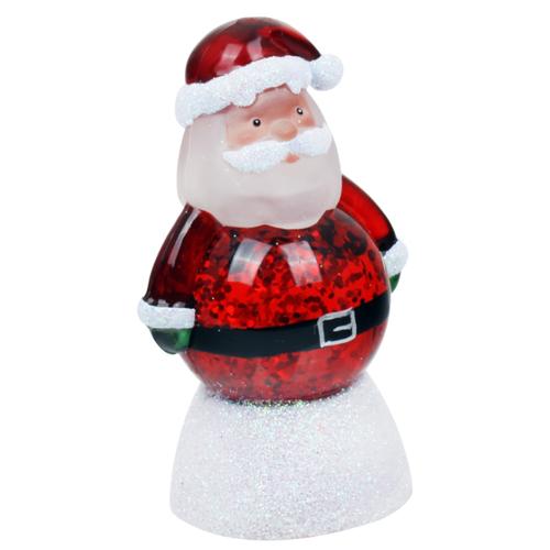 Снежный шар ORIENT Дед мороз 7,5 см красный