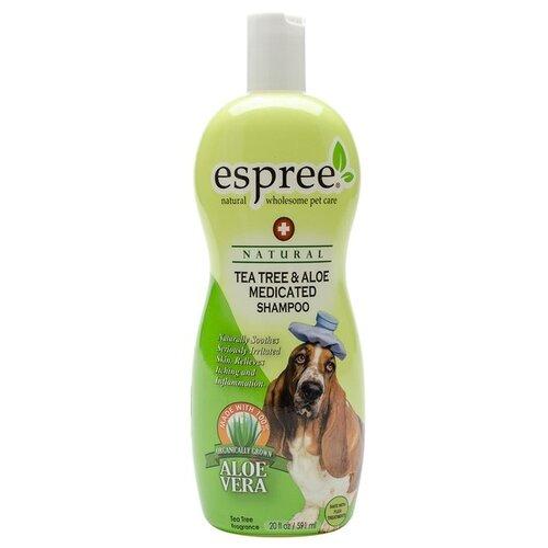Шампунь Espree Чайное дерево и алоэ для собак AC Tea Tree & Aloe Shampoo 355 мл шампунь espree energee plus durty dog shampoo ароматный гранат для сильнозагрязненной шерсти собак и кошек 3790 мл