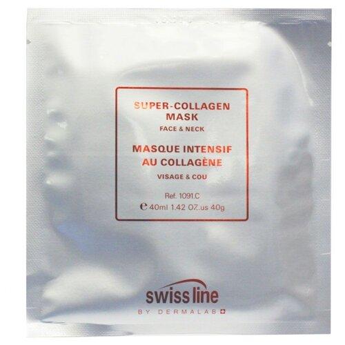 Swiss Line Super-Collagen Mask гелевая маска для лица и шеи, 40 мл сыворотка для лица swiss line swiss line sw013lwdvtw2