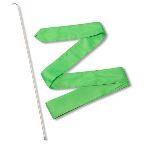 Палочка с лентой для художественной гимнастики Indigo СЕ4 салатовый