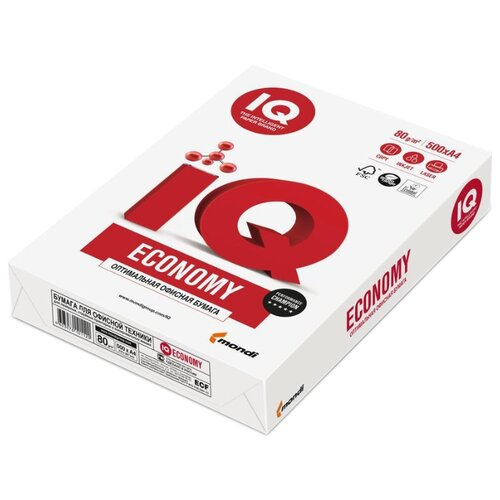 Фото - Бумага Mondi A4 IQ Economy 80 г/м² 500 лист. белый бумага iq color а4 color 120 г м2 250 лист оранжевый or43 1 шт