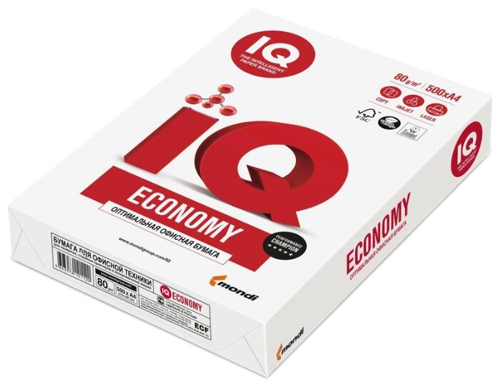 Бумага A4 500 шт. Mondi IQ Economy