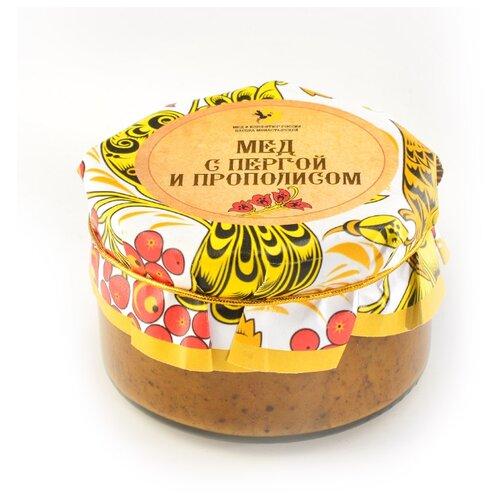 Крем-мед Мед и Конфитюр Русский стиль с пергой и прополисом 230 г