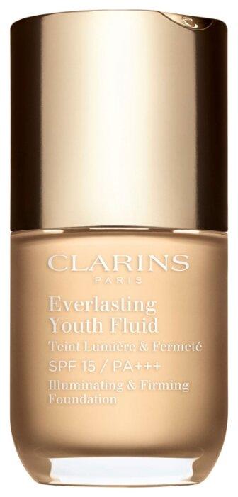Clarins Тональный флюид Everlasting Youth Fluid SPF 15, 30 мл — купить по выгодной цене на Яндекс.Маркете
