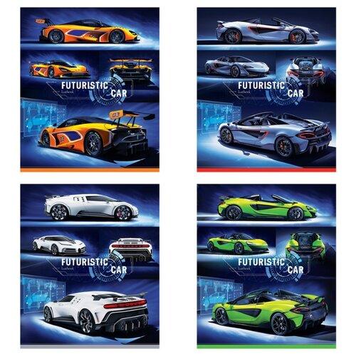 Купить ArtSpace Упаковка тетрадей Авто. Futuristic car Т48к_29728, 10 шт./4 дизайна, клетка, 48 л., Тетради