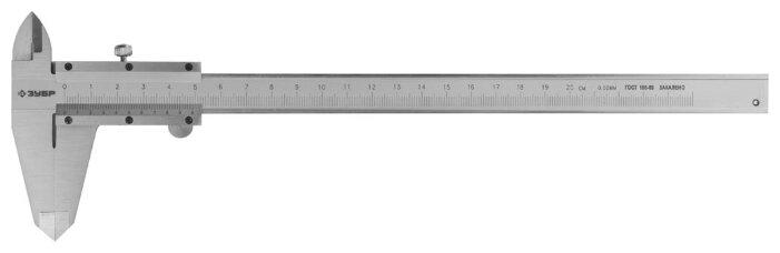 Нониусный штангенциркуль ЗУБР Эксперт 34512-200 200 мм, 0.05 мм