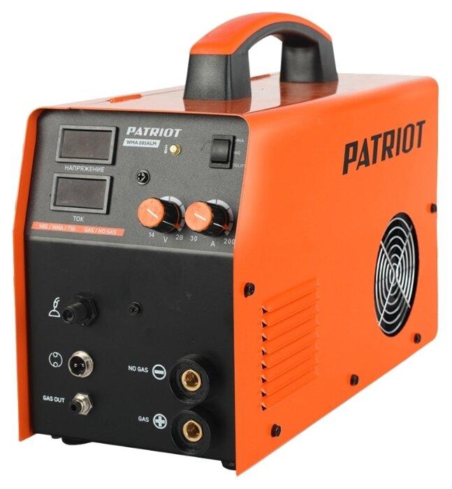 Сварочный аппарат PATRIOT WMA 205ALM (TIG, MIG/MAG, MMA)