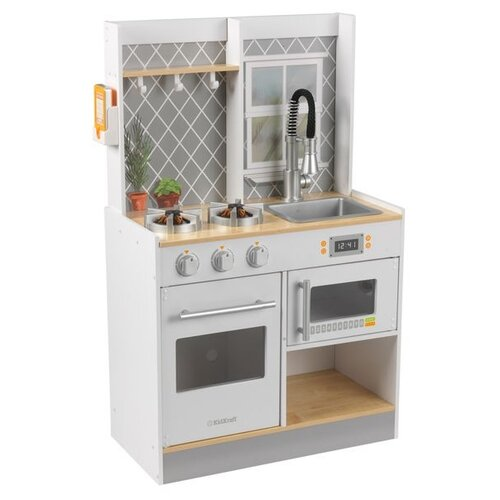 Фото - Кухня KidKraft Let's Cook Wooden Play Kitchen 53395/53433 серый wooden children simulation pretend play small doctor toy suit kids gift