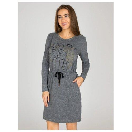 Платье Monamise размер XL темно-серый меланж
