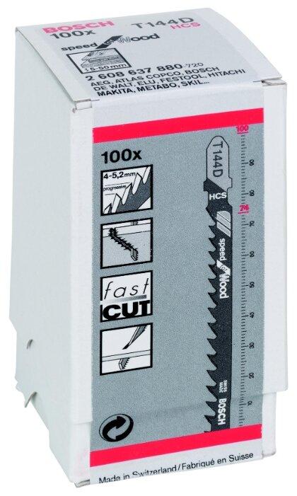 Набор пилок для лобзика BOSCH T144D 2608637880 100 шт.