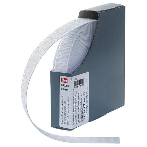 Купить Prym Эластичная лента с поперечной стабильностью (950250), белый 2.5 см х 10 м, Технические ленты и тесьма