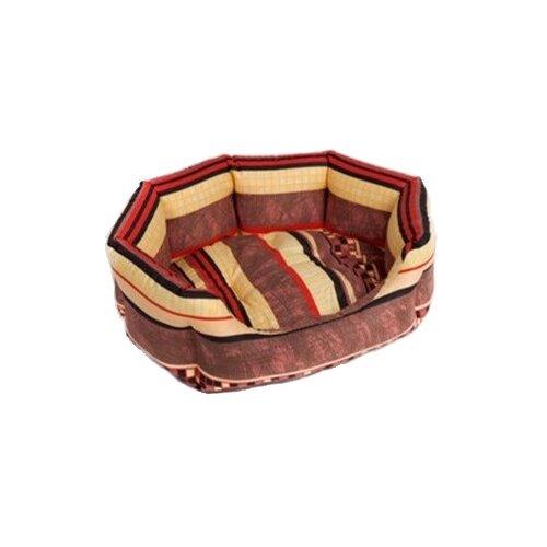 Лежак для собак и кошек Зоо Фортуна Браун №1 53х40х16 см коричневый лежак для кошек для собак зоо фортуна чай 2 м 271 80х50х8 см бежевый коричневый