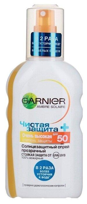 GARNIER Ambre Solaire Солнцезащитный спрей Чистая Защита SPF 50