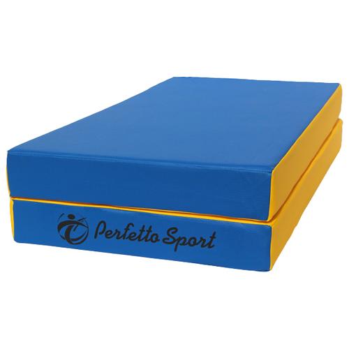Спортивный мат 1000х1000х100 мм Perfetto Sport № 3 сине/жёлтый