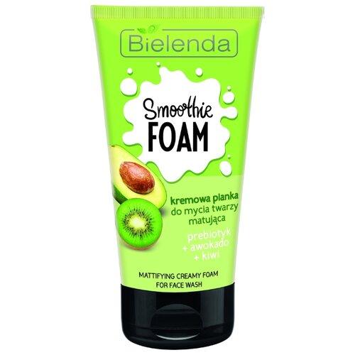 Bielenda нормализующая кремовая пенка Пребиотик + Авокадо + Киви Smoothie Wash, 135 мл
