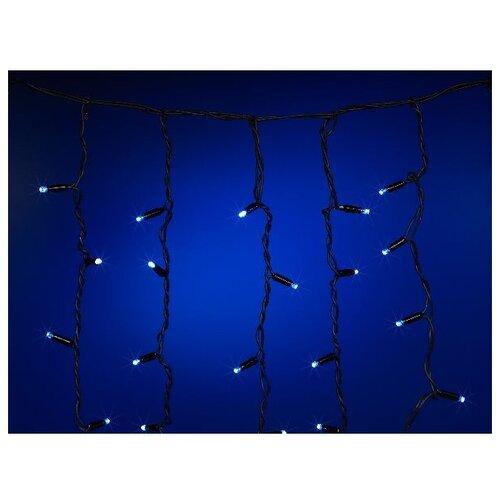 Гирлянда SNOWMEN Бахрома, 320 х 90 см, 232 ламп, синий/черный провод