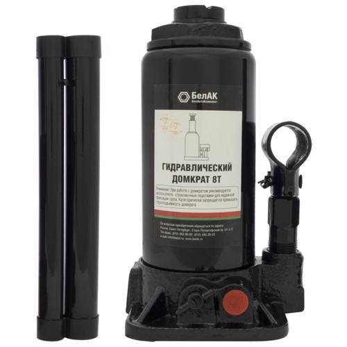Домкрат бутылочный гидравлический БелАвтоКомплект БАК.00031 (8 т) черный