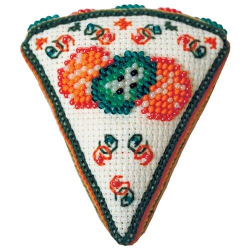ZENGANA Набор для вышивания бисером и нитками Тортик Киви 7 х 8 х 2 см (М-113)