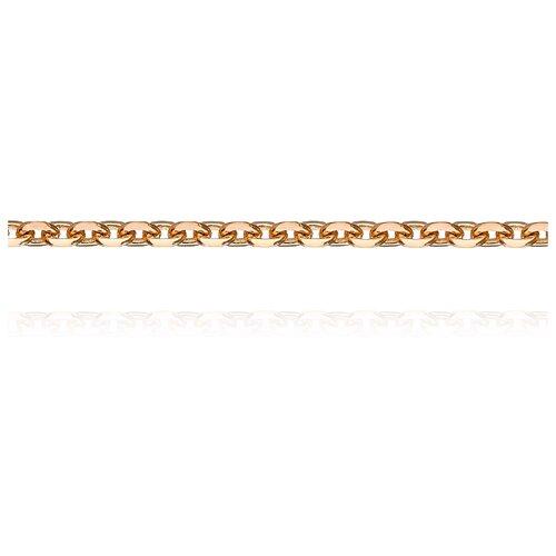 АДАМАС Цепь из золота плетения Якорь одинарный ЦЯ160СА4-А51, 45 см