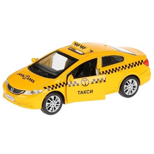 Легковой автомобиль ТЕХНОПАРК Honda Civic (CIVIC-T) 12 см желтый