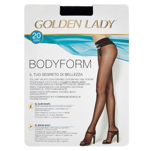 Колготки Golden Lady Bodyform 20 den, размер 3-M, nero (черный) носки bodyform белый 44 размер