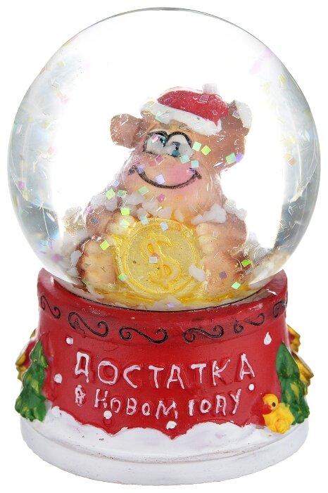 Снежный шар Сима-ленд Достатка в Новом году! Обезьянка с долларом.