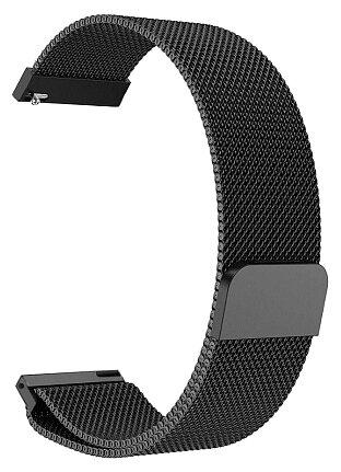 Ремешок металлический GSMIN Milanese Loop для умных часов Amazfit Bip (Серебристый)