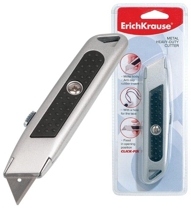 Нож канцелярский, цвет: металлик, 19 мм.