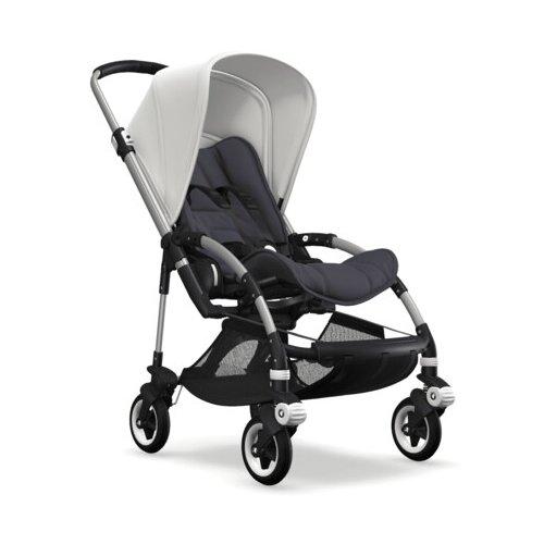 Прогулочная коляска Bugaboo Bee⁵ Alu/Black/Fresh White, цвет шасси: серебристый