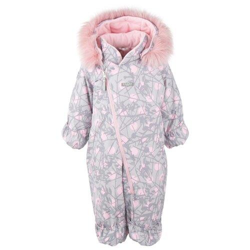 Купить Комбинезон KERRY BERRY K20407 размер 74, 03900 розовые горошки на сером, Теплые комбинезоны