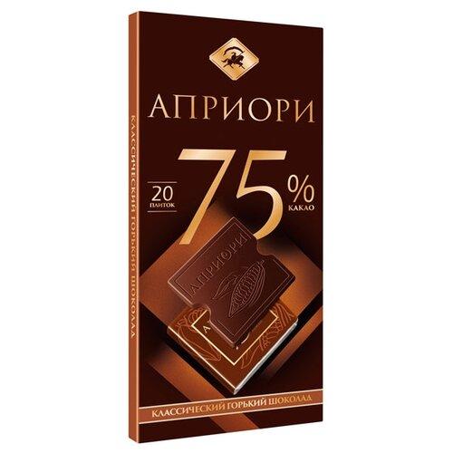 Шоколад Априори горький 75% какао порционный, 100 г