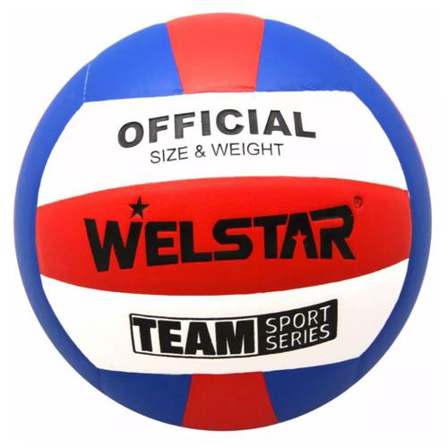 Волейбольный мяч WELSTAR VLPU4411B синий/красный/белый волейбольный мяч kata 4500 белый зеленый красный