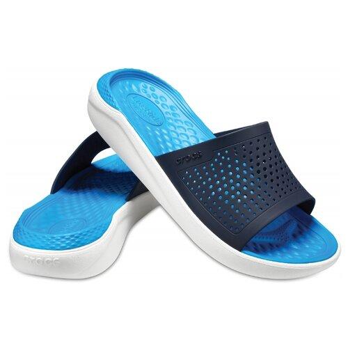 Шлепанцы Crocs LiteRide Slide, размер 42-43(M10/W12), navy/white