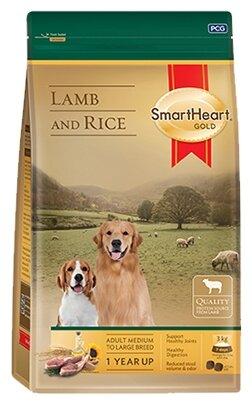 Корм для собак SmartHeart ягненок с рисом 1 кг